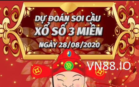 Soi cầu 3 miền 28/8/2020 chuẩn nhất tại Vn88