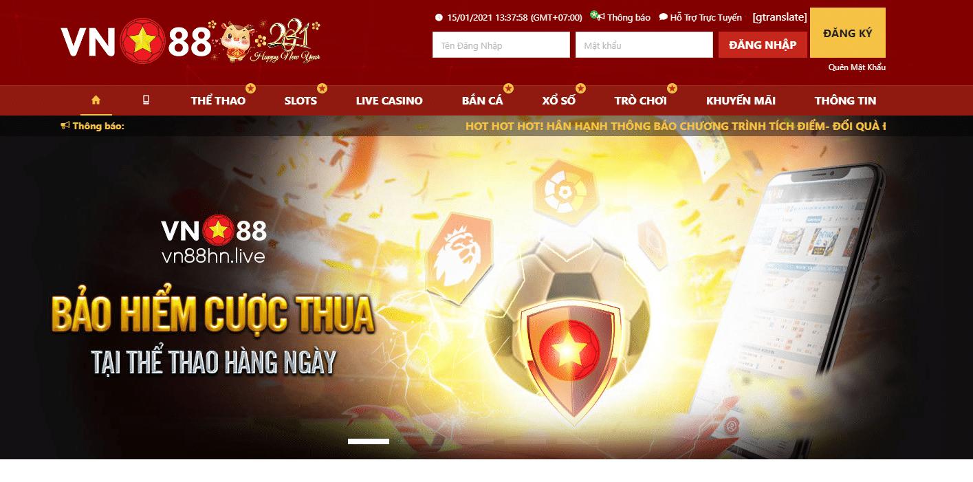 vn88.vn homepage