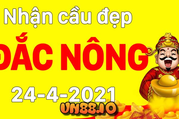 Soi cầu dự đoán xổ số Đắk Nông ngày 24/04/2021 [xổ số Đắk Nông]